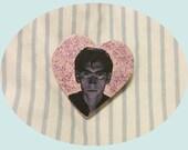SALE!! Handmade Glitter Alex Turner Pin