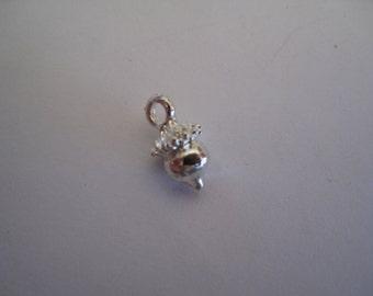 1 Silver Mini Acorn Charm
