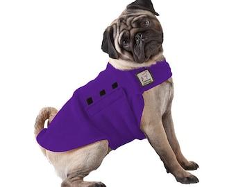 PUG Tummy Warmer, Pug Coat, Fleece Dog Coat, Sweater for Dogs, Dog Vest, Dog Shirt, Dog Accessories, Dog Clothes, Dog Clothing, Dog Jammies,