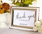 Thank You For Celebrating With Us Favor Table Sign, Reception Table Sign, Bridal Shower Sign, Party Favor Sign - Size 5 x 7 (CAN - SIGN)