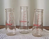 Vintage Hygeia Baby Bottles 8 Ounce Glass Bottles Nursery Decor Babies Room Baby Shower Decor Vintage 1960s