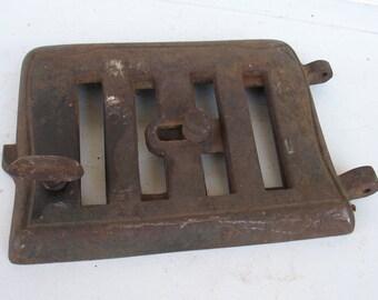 Vintage Pot Belly Stove Door Vent - Cast Iron Stove Door - Rustic Charm