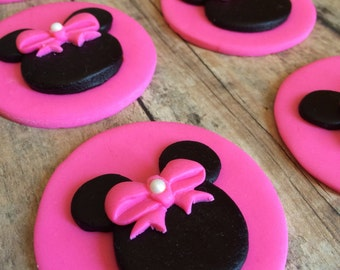 EDIBLE (Fondant Toppers) - Minnie Mouse Inspired
