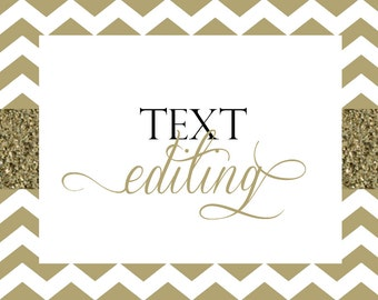 Text Editing Fee