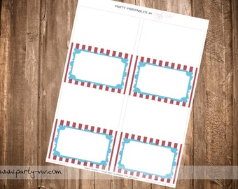 "PRINTABLE (Blank TABLE TENTS) - ""Old Time"" Carnival Collection - Vintage Design"