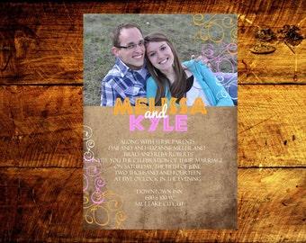custom wedding invitations, wedding announcement, photo wedding invitations, modern wedding invitations, wedding invitations