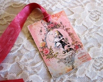 French Gift Tags, Alice in Wonderland Gift Tags, Gift Tag, Vintage Gift Tag, Alice in Wonderland, Alice in Wonderland With Goose, ECS