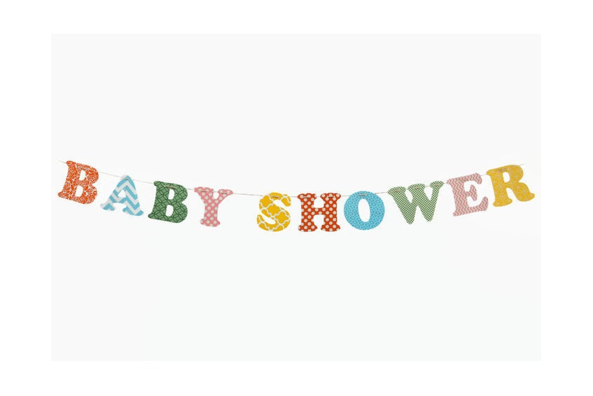 Custom Name Banner ~ Fabric Banner ~ Fabric Letters ~BABY SHOWER Collection