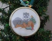 Precious Moments Woodland Christmas Cross Stitch Ornament