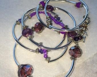 Monochromatic Multi-Bead Bangle (Set of 6) by ChoklatTea