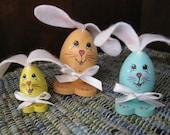 Set of Three Bunny Eggs (Set L)