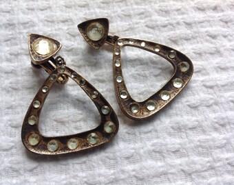 Vintage Vendome rhinestone earrings