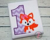 Fox Birthday Shirt -  Fox Birthday Party, Fox Party, Fox Birthday Outfit, 1st Birthday, 2nd Birthday, Toddler Birthday, Twin Birthday, Foxy