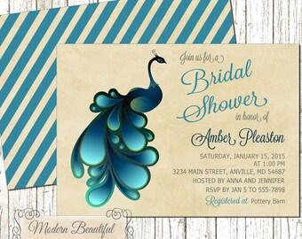 Peacock bridal shower – Etsy