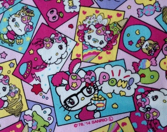 Hello kitty Pop fabric One yard pink base colour