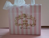 Paris party favor bags in pink and gold for any occasion