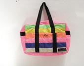 COLOR BLOCK pastel 90s design TOTE bag