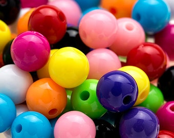 150 MIXED Colors GUMBALL Beads 8mm Bubblegum Resin Round H442
