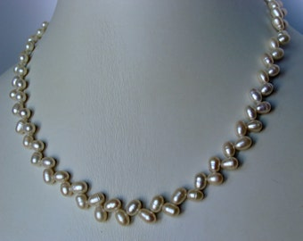 Freshwater Pearl Sterling Silver Necklace