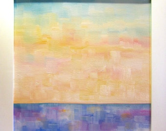 ORIGINAL Landscape Painting...12x12 Art in White Frame...Framed Art...Ready to Hang
