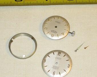 Antique Vintage Watch Parts Face Jewelry Steampunk Art Supplies Lucerne (X)