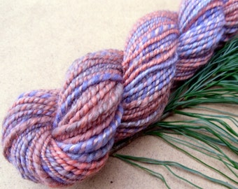 Handspun yarn, plied handspun, merino wool, soy fibre, handspun DK yarn