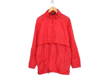 Vintage Woolrich Bright Red Windbreaker / Parka, Made in USA