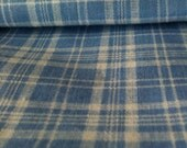 Multi Purpose Summery Blue and White Plaid: Scarves, Head Wrap, or Curtain Ties, Set of Two