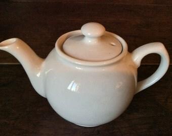 Vintage English White Teapot Tea For One circa 1950's / English Shop