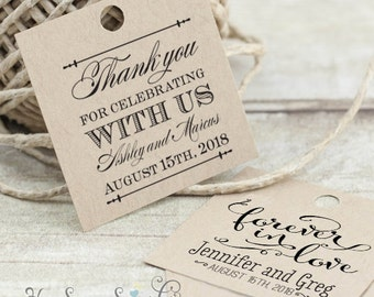 With our Love - Mason Jar - Printable Favor Tags