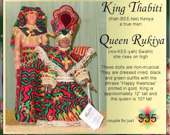 African Kawanzaa King and Queen dolls