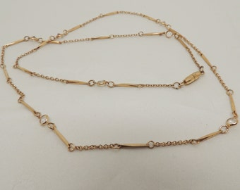 Vintage Gold Necklace with Crystal Accents