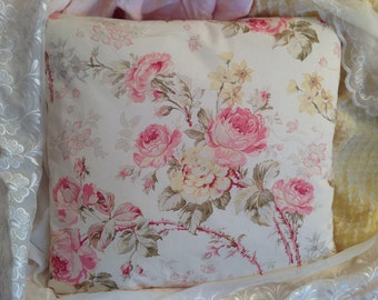 Shabby pillow Slipcover Gorgeous summers rose floral