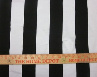 """apx. 2"""" wide Black and White VERTICAL Stripe Cotton Lycra Knit"""