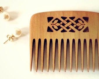 Small Wood Comb - Celtic