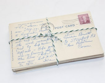 SALE CANADA Postcard Craft Pack - 25 Postmarked, Stamped and Written on Postcards - 1900-1970s