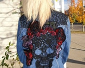Reserved for Julia  Dios Dos Muertos Decorated Jean Jacket