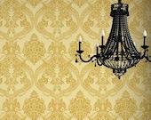 Majestic Medina Damask Mylar Stencil for DIY Wall Decor