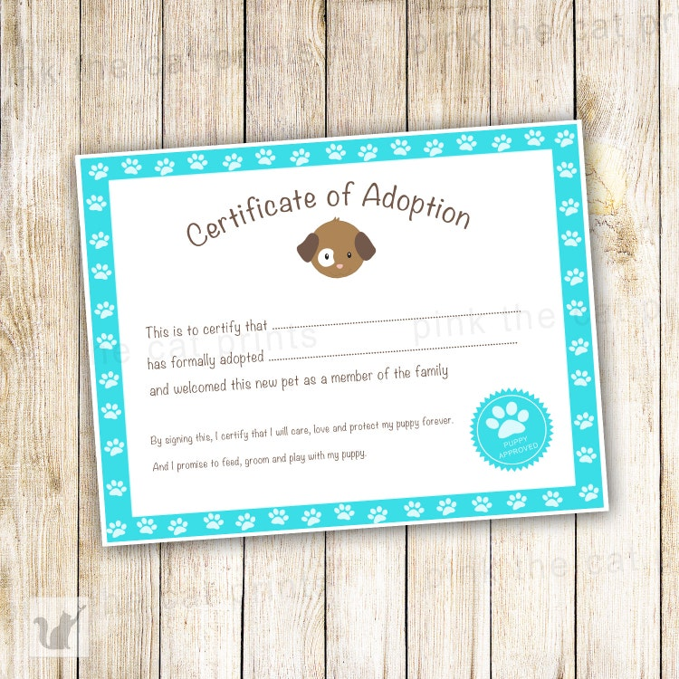 Unique Adoption Certificate Related Items Etsy Toy Adoption