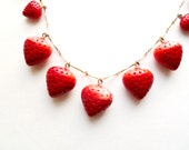 Vintage HOBE Strawberry Necklace Designer Necklace COK326