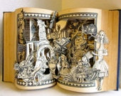 Alice in Wonderland altered book antique repurposed pop up (1923 restored)