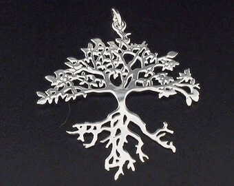 1 of 925 Sterling Silver Tree of Life Pendant 36x38 mm.Polish Finished  :th2123