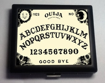 Ouija Board Occult   Black Metal Wallet Cigarette Case No.  1120