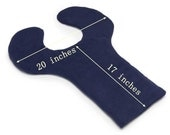 "Unscented Extra Large (26"" x 20"")  Microwave Neck Shoulder UpperBack Wrap, Navy Blue, Moist Heat, Washable Fleece Covere"