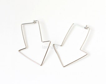 Wire Arrow Earrings / choose your color,  gold and silver