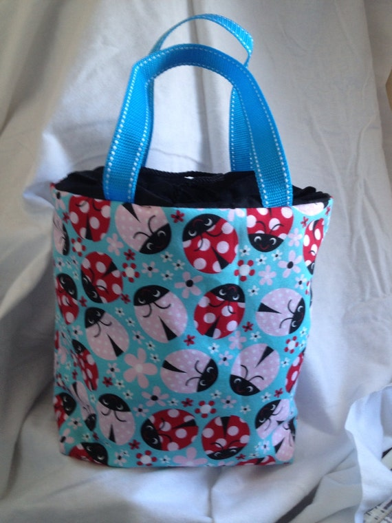 Lunch Bag, Adult Lunch Tote, Ladybug Lunchbag, Insulated Lunch Bag, Eco Friendly Fabric Tote, Thermal Tote Bag