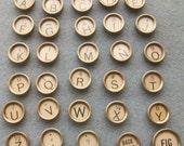 SALE!!! Vintage white typewriter keys, full set (30 keys)