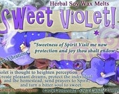 Sweet Violet Protection Pleasant Dreams and Banish the Wicked! Wax Melts for Magick, Prayer, Spells or Ritual