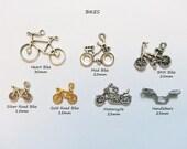 ADD A CHARM - Bikes Bicycle Motorcycles Gears Nautical Beach Shamrock Ribbon Awareness Sports - CHMISC01