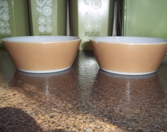 Two Federal Brown tan Soup/Cereal Bowl in great condition
